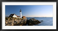 Framed Lighthouse on the coast, Portland Head Lighthouse, Ram Island Ledge Light, Portland, Cumberland County, Maine, USA