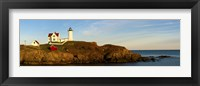 Framed Lighthouse on the coast, Cape Neddick Lighthouse, Cape Neddick, York, Maine, USA