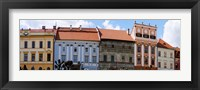 Framed Low angle view of old town houses, Levoca, Slovakia
