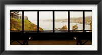 Framed Coastal viewed from a shed at Mendocino Coast Botanical Gardens, Fort Bragg, California, USA