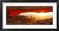 Framed Mesa Arch at sunset, Canyonlands National Park, Utah, USA