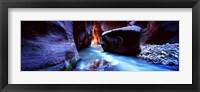 Framed Virgin River at Zion National Park, Utah, USA