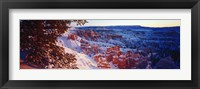 Framed Snow in Bryce Canyon National Park, Utah, USA