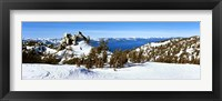 Framed Trees on a snow covered landscape, Heavenly Mountain Resort, Lake Tahoe, California-Nevada Border, USA