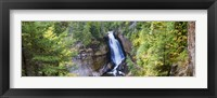 Framed Waterfall in a forest, Miners Falls, Rocks National Lakeshore, Upper Peninsula, Michigan, USA