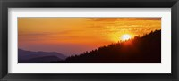 Framed Orange Sunset at Clingmans Dome, Tennessee