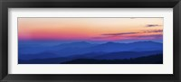 Framed Blue & Pink Sunset at Clingmans Dome,Tennessee