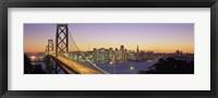 Framed San Francisco Bay Bridge At Dusk, California