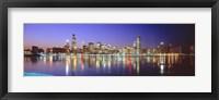 Framed USA, Illinois, Chicago, night