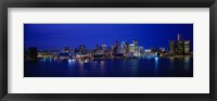 Framed USA, Michigan, Detroit, night
