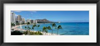 Framed Buildings On The Beach, Waikiki Beach, Honolulu, Oahu, Hawaii, USA