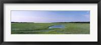 Framed USA, Florida, Jacksonville, Atlantic Coast, Salt Marshes