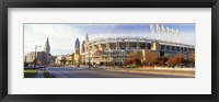 Framed Low angle view of baseball stadium, Jacobs Field, Cleveland, Ohio, USA