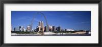 Framed Skyline Gateway Arch St Louis MO USA