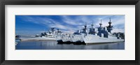 Framed Warships at a naval base, Philadelphia, Philadelphia County, Pennsylvania, USA
