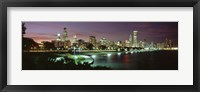 Framed Chicago Lit Up at Night