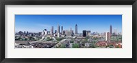Framed USA, Georgia, Atlanta, skyline