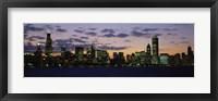Framed Chicago Skyline at Dusk