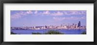 Framed Puget Sound, City Skyline, Seattle, Washington State, USA