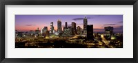 Framed Skyline At Dusk, Cityscape, Skyline, City, Atlanta, Georgia, USA
