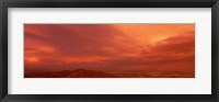 Framed Storm clouds over mountains at sunset, South Mountain Park, Phoenix, Arizona, USA
