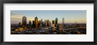 Framed High angle view of buildings in a city, Dallas, Texas, USA