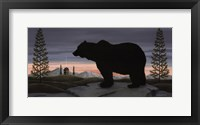 Framed Bear at Dusk