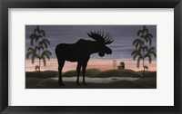Framed Moose at Dusk