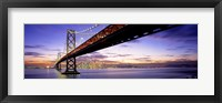 Framed Bay Bridge at Twilight