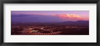 Framed Aerial view of a city lit up at sunset, Phoenix, Maricopa County, Arizona, USA