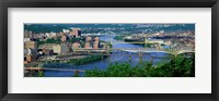 Framed Monongahela River Pittsburgh PA USA