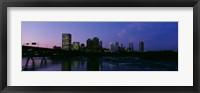 Framed Richmond, Virginia at Night