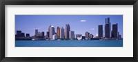 Framed Detroit, Michigan Skyline