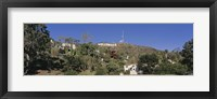 Framed USA, California, Los Angeles, Hollywood Sign at Hollywood Hills