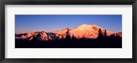 Framed Sunset Mount Rainier Seattle WA