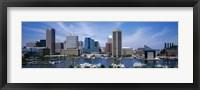 Framed Inner Harbor, Baltimore, Maryland