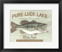 Framed Pure Luck Lake