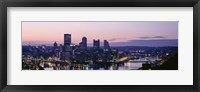 Framed USA, Pennsylvania, Pittsburgh, Monongahela River