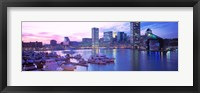 Framed Sunset, Inner Harbor, Baltimore, Maryland, USA