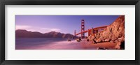 Framed Golden Gate Bridge and Mountain View