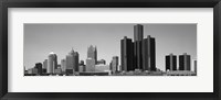 Framed Skyscrapers In The City, Detroit, Michigan, USA