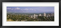 Framed High angle view of a city, Salt Lake City, Utah, USA