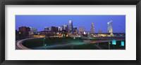 Framed Kansas City, Missouri at Night
