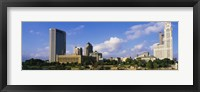 Framed Buildings on the banks of a river, Scioto River, Columbus, Ohio, USA