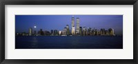 Framed Buildings at the waterfront, World Trade Center, Hudson river, Lower Manhattan, Manhattan, New York City, New York State, USA