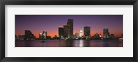 Framed Evening Biscayne Bay Miami FL