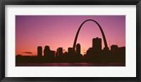 Framed USA, Missouri, St Louis, sunset