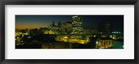 Framed Newark, New Jersey at Night