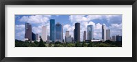 Framed Skyscrapers in a city, Houston, Texas, USA