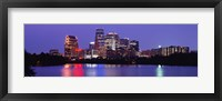 Framed US, Texas, Austin, skyline, night